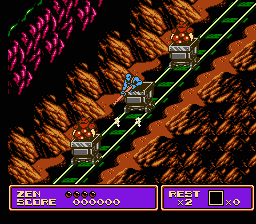 zen intergalactic ninja nes screenshot high speed railway