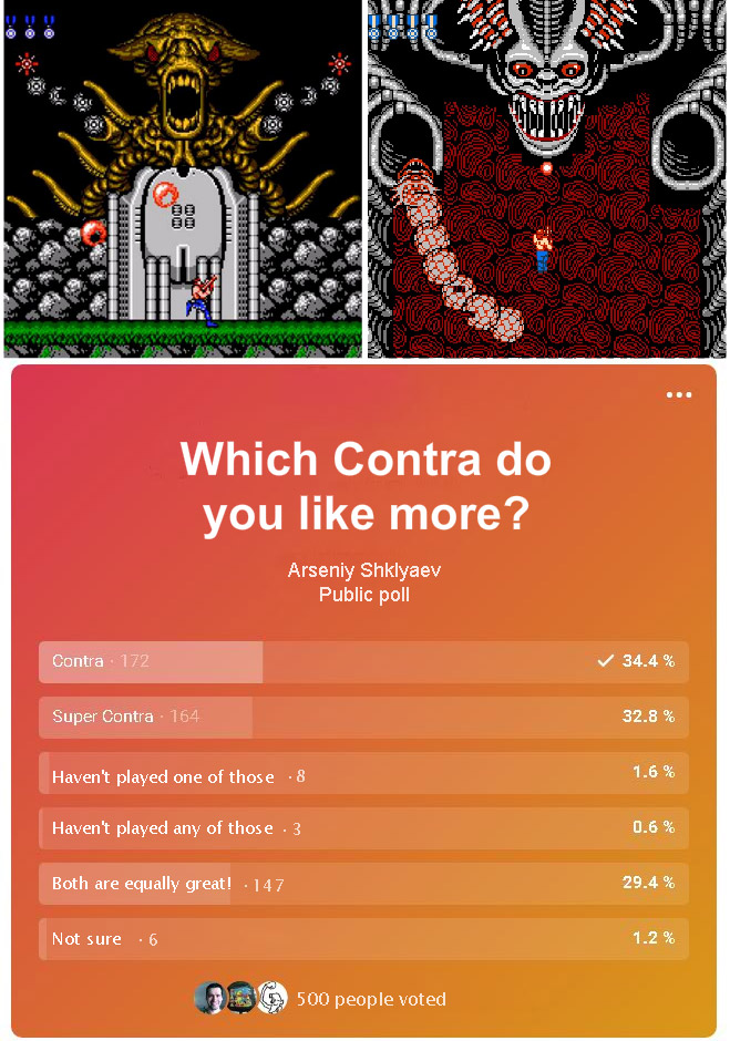 Which Contra game do you like more - public poll.