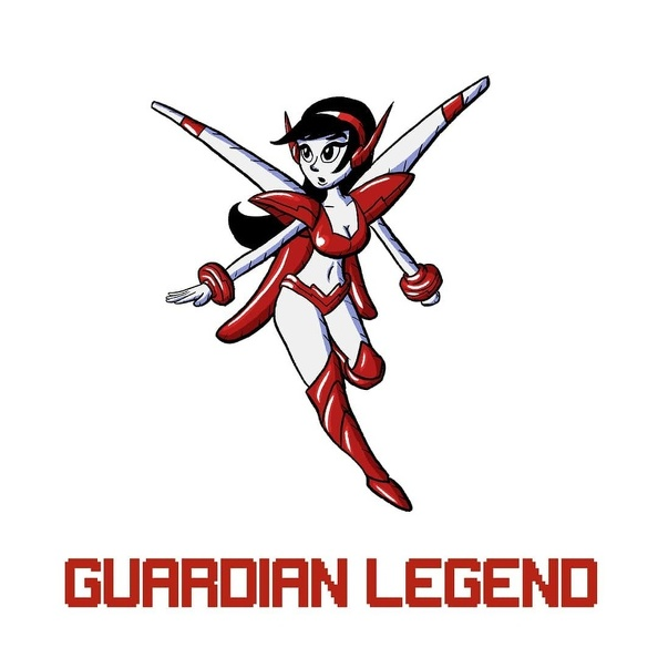 Guardian Legend Miria with game logo.jpg