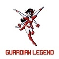 Guardian Legend Miria with game logo